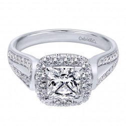 Gabriel 14 Karat Contemporary Engagement Ring ER10908W44JJ