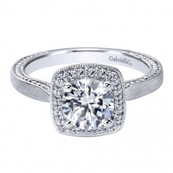 Gabriel 14 Karat Contemporary Engagement Ring ER10914W44JJ