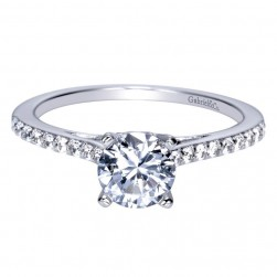 Gabriel 14 Karat Contemporary Engagement Ring ER8060W44JJ