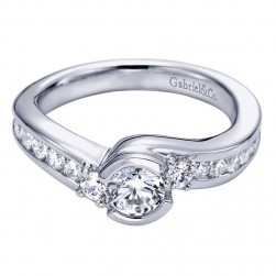 Gabriel 14 Karat Contemporary Engagement Ring ER96049W44JJ