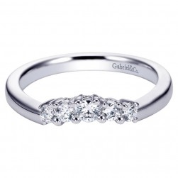 Gabriel 14 Karat Contemporary Wedding Band WB3812W44JJ