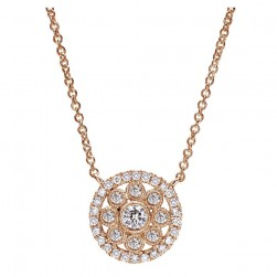 Gabriel Fashion 14 Karat Clustered Diamonds Necklace NK4136K45JJ
