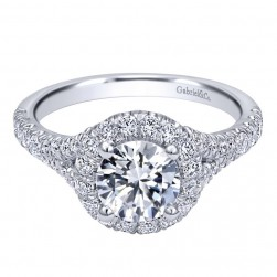 Gabriel 14 Karat Contemporary Engagement Ring ER10289W44JJ