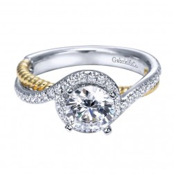Gabriel 14 Karat Contemporary Engagement Ring ER5362W44JJ