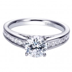 Gabriel 14 Karat Contemporary Engagement Ring ER8193W44JJ