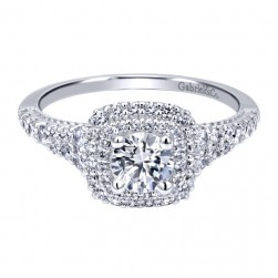 Gabriel 14 Karat Contemporary Engagement Ring ER911876R0W44JJ