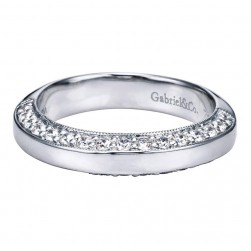 Gabriel 14 Karat Contemporary Wedding Band WB5528W44JJ