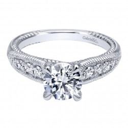 Gabriel 14 Karat Contemporary Engagement Ring ER10430W44JJ