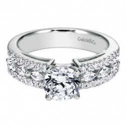 Gabriel 14 Karat Contemporary Engagement Ring ER4119W44JJ