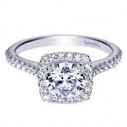Gabriel 14 Karat Contemporary Engagement Ring ER8152W44JJ