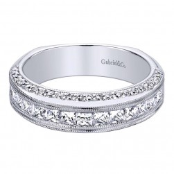 Gabriel 14 Karat Contemporary Wedding Band WB9322W44JJ