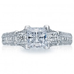 HT2514PR612X Platinum Tacori Classic Crescent Engagement Ring
