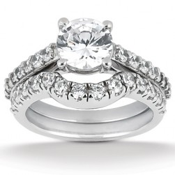 Taryn Collection Platinum Diamond Engagement Ring TQD A-199