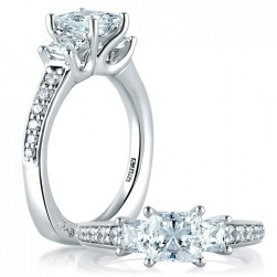 A.JAFFE Platinum Signature Engagement Ring MES591