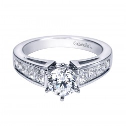 Gabriel 14 Karat Contemporary Engagement Ring ER1736W44JJ