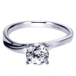 Gabriel 14 Karat Contemporary Engagement Ring ER9087W4JJJ