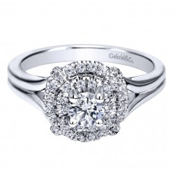 Gabriel 14 Karat Contemporary Engagement Ring ER910143W44JJ