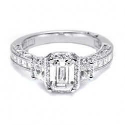 HT2535SM12X Tacori Crescent 18 Karat Engagement Ring