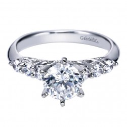 Gabriel 14 Karat Contemporary Engagement Ring ER3957W44JJ