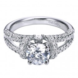 Gabriel 14 Karat Contemporary Engagement Ring ER6297W44JJ