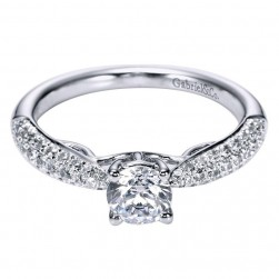 Gabriel 14 Karat Contemporary Engagement Ring ER96289W44JJ