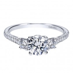Gabriel 14 Karat Contemporary Engagement Ring ER98558W44JJ