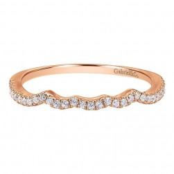 Gabriel 14 Karat Contemporary Wedding Band WB7805K44JJ