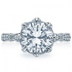 HT2604RD10 Platinum Tacori RoyalT Engagement Ring