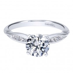 Gabriel 14 Karat Contemporary Engagement Ring ER11749R3W44JJ
