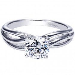 Gabriel 14 Karat Contemporary Engagement Ring ER9175W4JJJ
