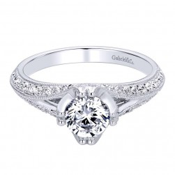 Gabriel 14 Karat Contemporary Engagement Ring ER9357W44JJ