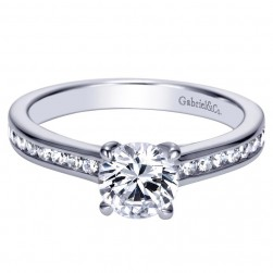 Gabriel 14 Karat Contemporary Engagement Ring ER98718W44JJ