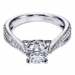 Gabriel 14 Karat Contemporary Engagement Ring ER6392W44JJ