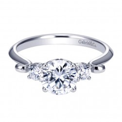 Gabriel 14 Karat Contemporary Engagement Ring ER7737W44JJ