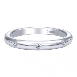 Gabriel 14 Karat Contemporary Wedding Band WB9668W44JJ