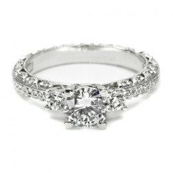 Tacori Crescent Platinum Engagement Ring HT2369P