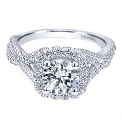 Gabriel 14 Karat Contemporary Engagement Ring ER10060W44JJ