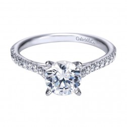 Gabriel 14 Karat Contemporary Engagement Ring ER7224W44JJ