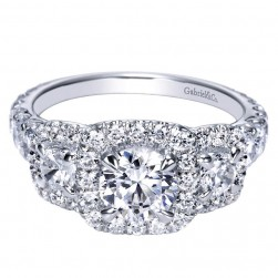 Gabriel 14 Karat Contemporary Engagement Ring ER98618W44JJ