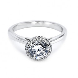Tacori Platinum Solitaire Engagement Ring 2502RD7.5