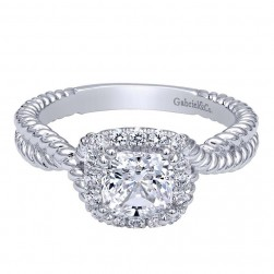 Gabriel 14 Karat Contemporary Engagement Ring ER10214W44JJ
