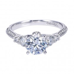 Gabriel 14 Karat Contemporary Engagement Ring ER7539W44JJ