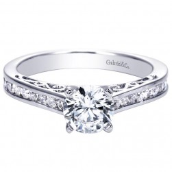 Gabriel 14 Karat Contemporary Engagement Ring ER7898W44JJ