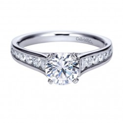 Gabriel 14 Karat Contemporary Engagement Ring ER8224W44JJ