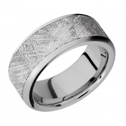 Lashbrook 9F17/METEORITE Titanium Wedding Ring or Band