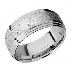 Lashbrook 9F2S14/METEORITE Titanium Wedding Ring or Band