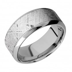 Lashbrook 9HB16/METEORITE Titanium Wedding Ring or Band