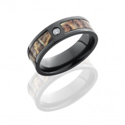 Lashbrook ZCAMO7F15SEG-RTMAX4DIA.05B POLISH Camo Wedding Ring or Band