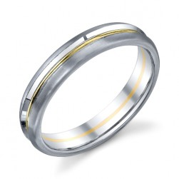 272851 Christian Bauer 18 Karat Two-Tone Wedding Ring / Band