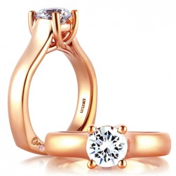 A.JAFFE 18 Karat Signature Engagement Ring MES582